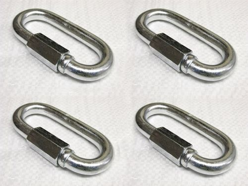 X4 4MM Galvanised Standard Quick Link - Rope Secure Attach Galv Maillon